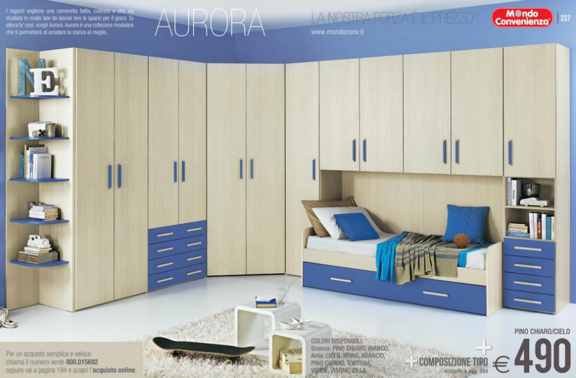 Aurora camere bimbi mondo convenienza 2014 2 design - Camere bimbi design ...