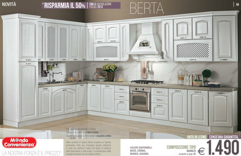 Emejing Cucina Rita Mondo Convenienza Images - Ideas & Design 2017 ...