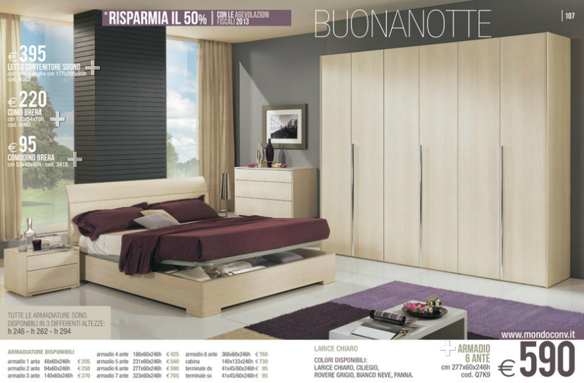 Buonanotte camere da letto mondo convenienza 2014 6 design mon amour - Camere da letto matrimoniali complete ...
