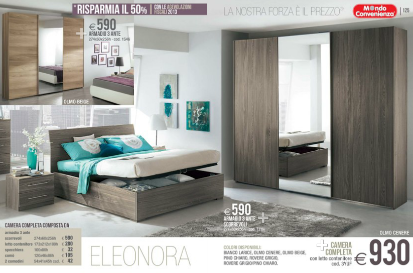 Eleonora camere da letto mondo convenienza 2014 8 design mon amour for Camere letto mondo convenienza