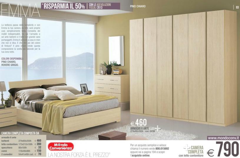 Emma camere da letto mondo convenienza 2014 5 design for Armadi camere da letto prezzi