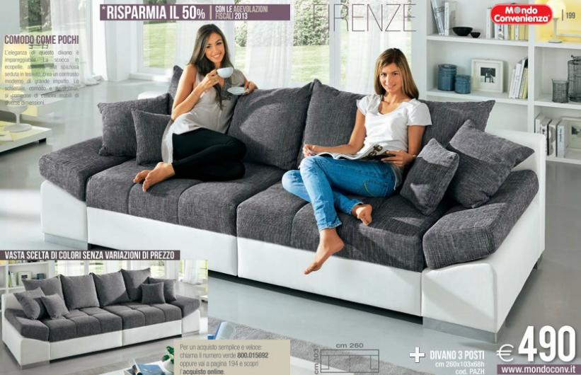 Divani Mondo Convenienza 3 Posti.Firenze Divani Mondo Convenienza 2014 3 Design Mon Amour