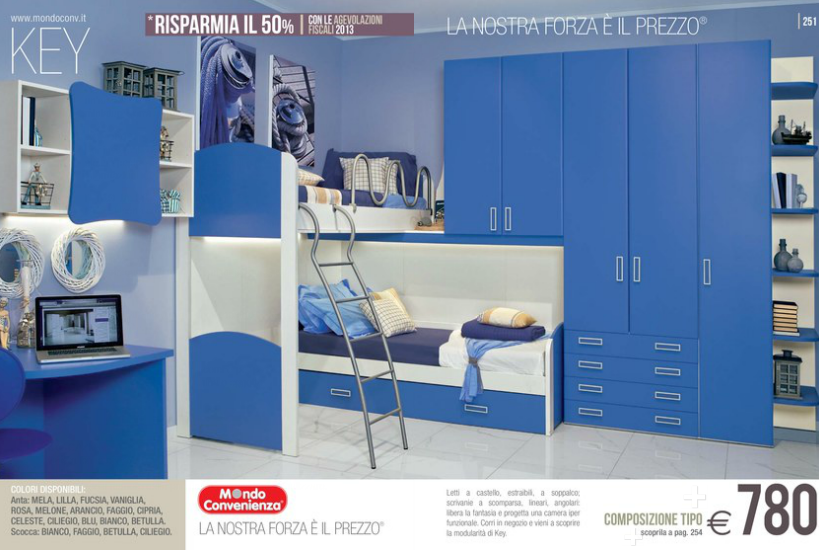 Comodini Camerette Mondo Convenienza. Com E Comodini Di Design With ...