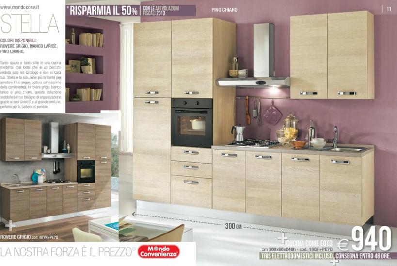 Stella cucine mondo convenienza 2014 4 design mon amour for Outlet divani mondo convenienza