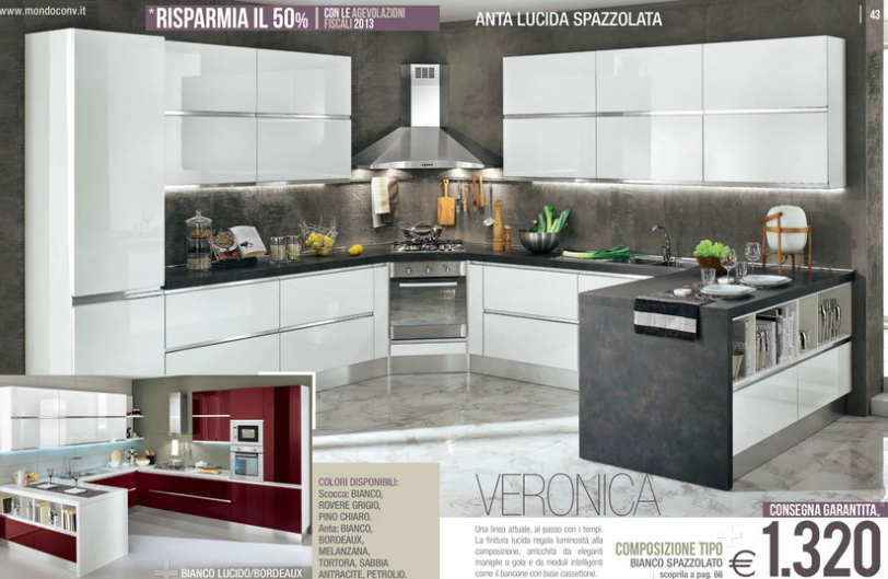 Veronica cucine mondo convenienza 2014 8 design mon amour for Cucine complete mondo convenienza