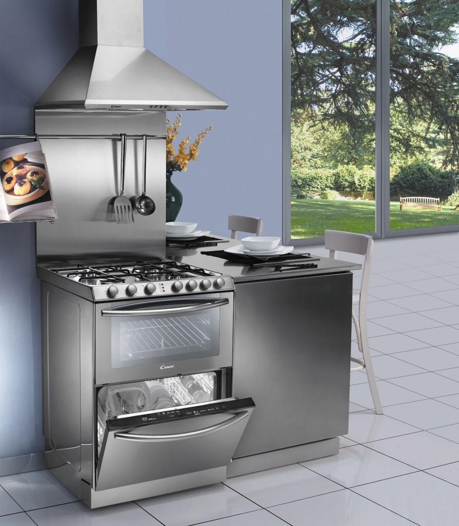 Elettrodomestici piccoli soluzioni salvaspazio design - Cucine con lavatrice ...