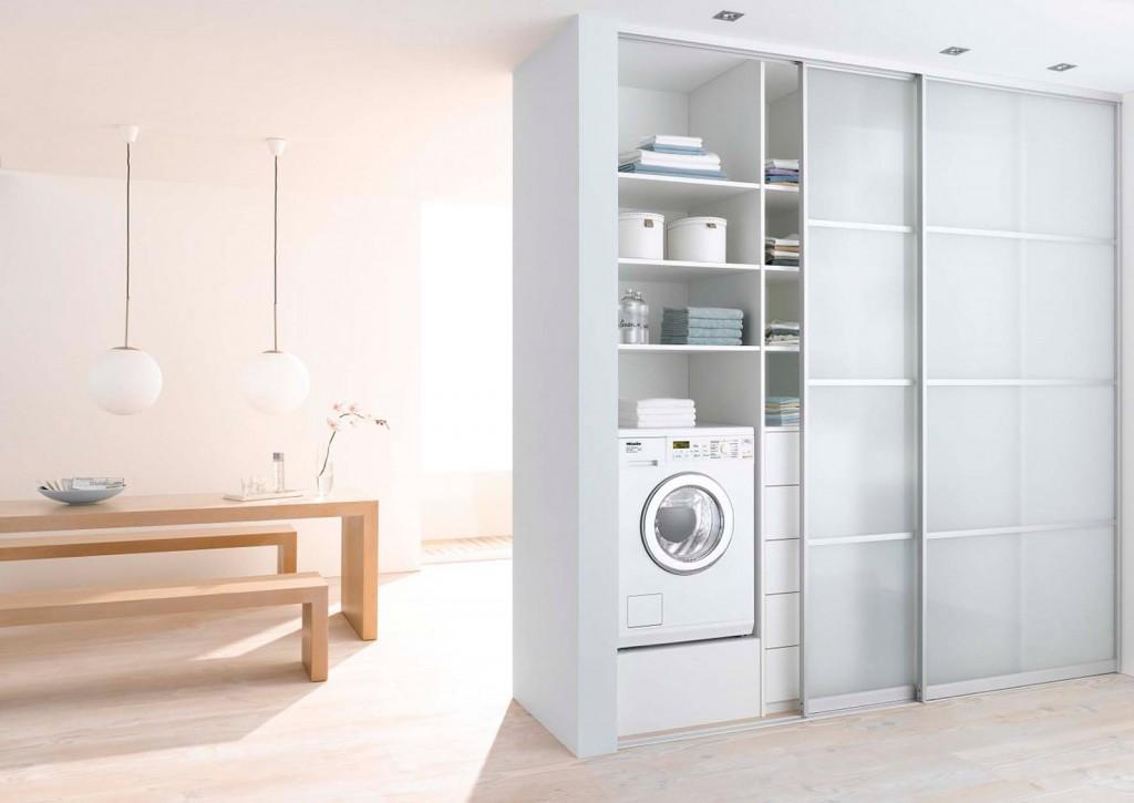Lavasciuga elettrodomestico due in uno salvaspazio - Bagno con lavatrice e asciugatrice ...