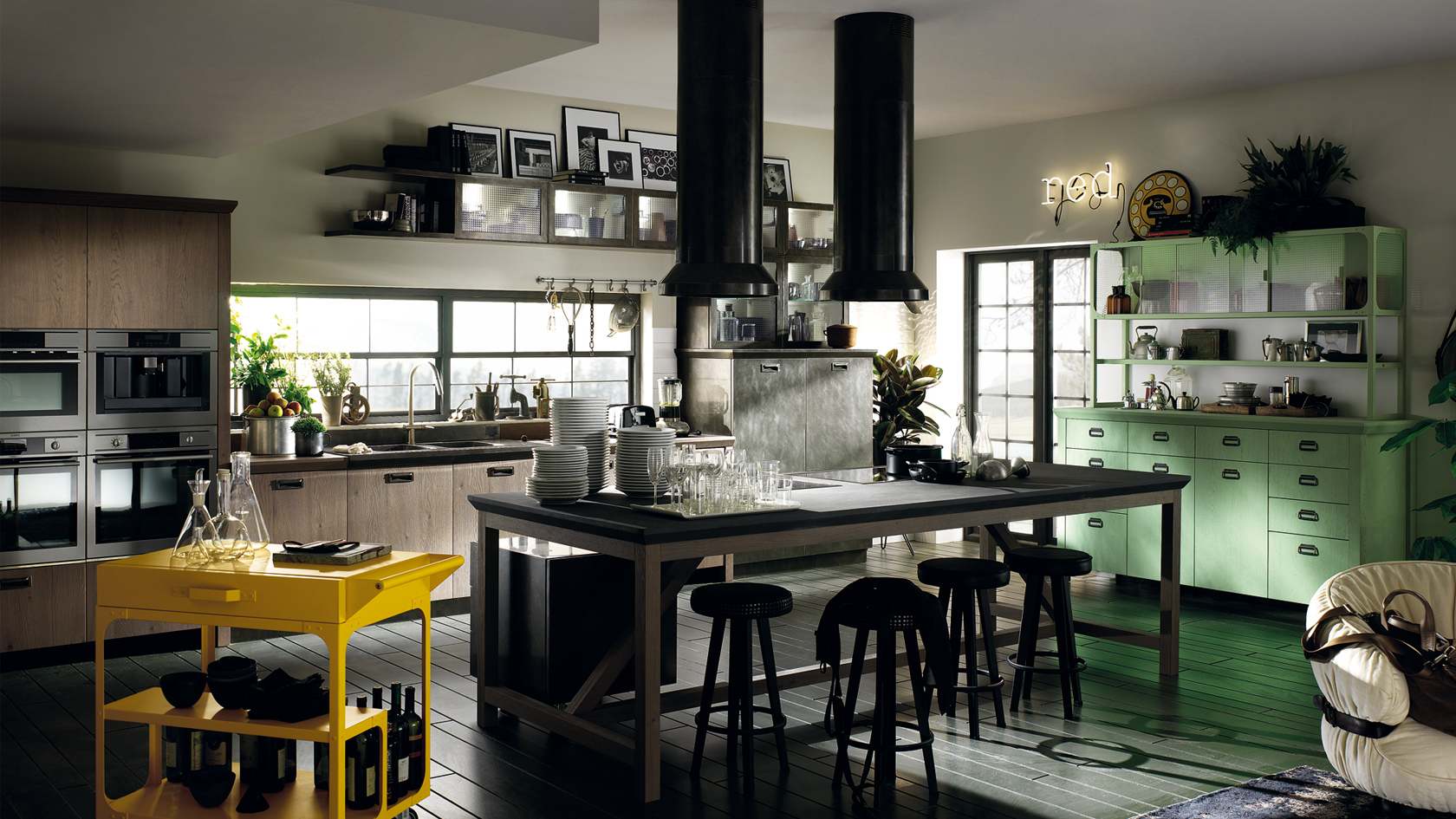 diesel scavolini progetto cucine social 3 design mon amour. Black Bedroom Furniture Sets. Home Design Ideas