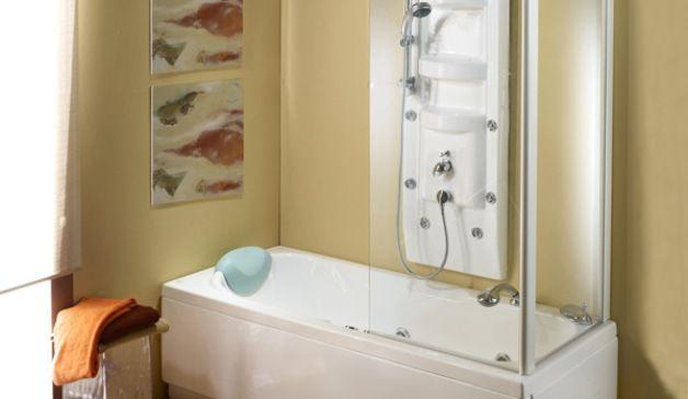 Vasca doccia combinati insieme design mon amour with vasca for Camminare attraverso la doccia alla vasca