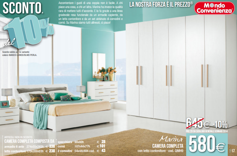 Marina letto saldi mondo convenienza design mon amour for Letto sommier mondo convenienza