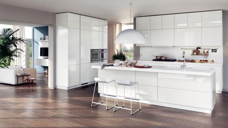 Come Arredare Cucina a vista - open space - piccola