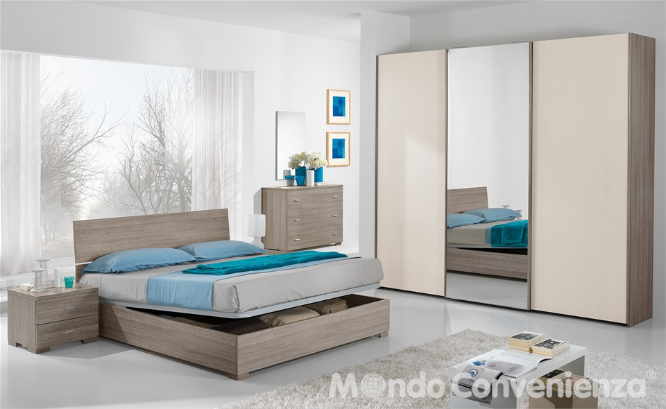 Mondo convenienza pisa camere da letto for Letto sommier mondo convenienza