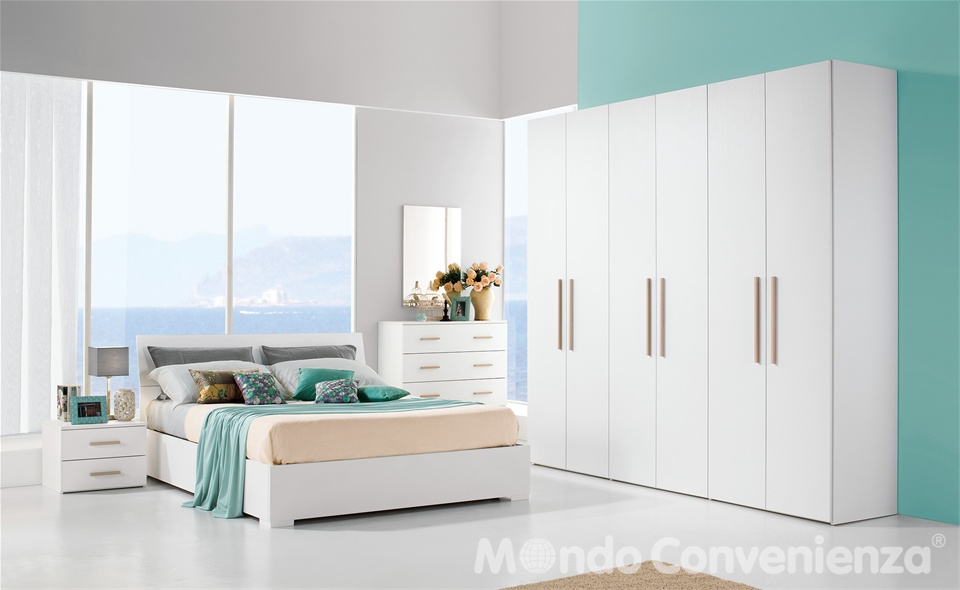 Marina camere da letto mondo convenienza 2015 design mon for Camere letto complete