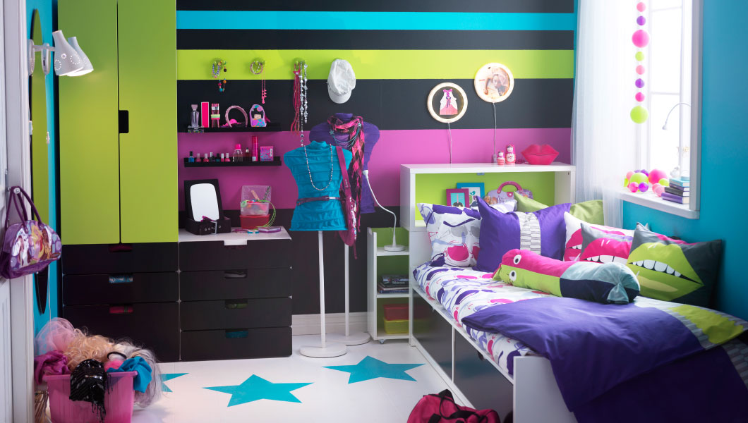 camerette ikea colorate 2015 design mon amour. Black Bedroom Furniture Sets. Home Design Ideas