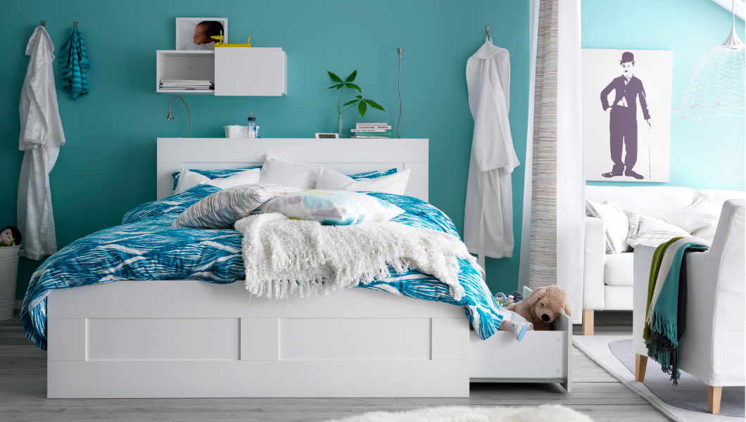 Letti ikea cassettoni camere da letto ikea 2015 design for Letti per casa al mare