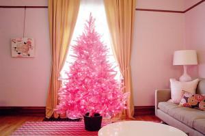 albero di natale 2014 rosa originale