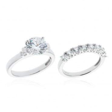 Set due anelli Diamonique