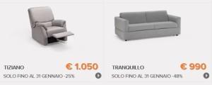 Divani e divani saldi al 50 fino al 31 gennaio 2015 - Divano klaus prezzo ...