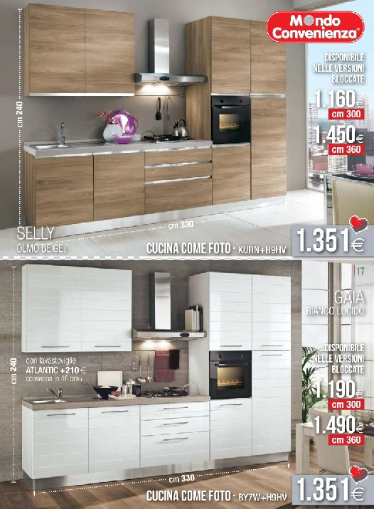 cucine selly e gaia modelli 2015 mondo convenienza design mon amour. Black Bedroom Furniture Sets. Home Design Ideas