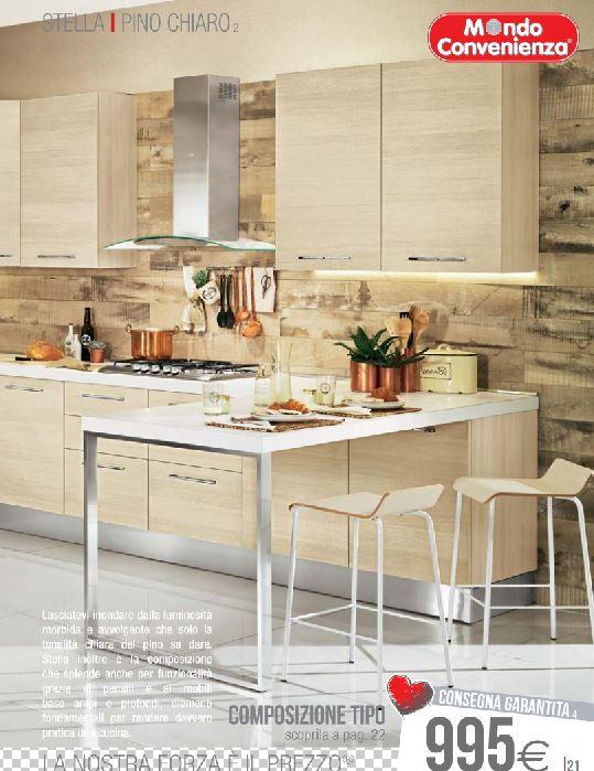 Cucina 2015 mondo convenienza stella pino chiaro design mon amour - Catalogo cucine mondo convenienza 2015 ...