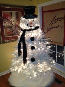 albero natale 2015 pupazzo di neve
