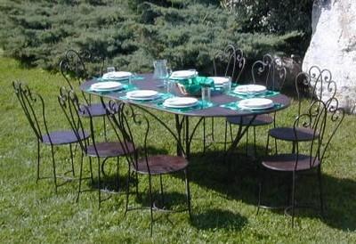 mobili da giardino materiali