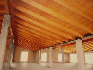 legno lamellare stile rustico