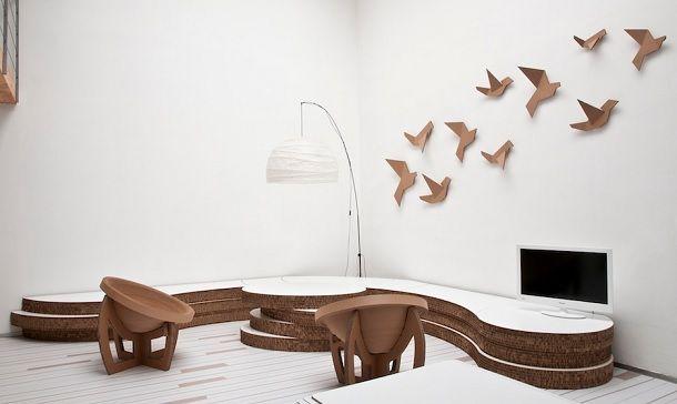 Arredamento in cartone mobili idee originali foto - Tavoli design famosi ...