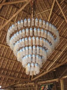 Materiali e Riciclo Creativo lampadario